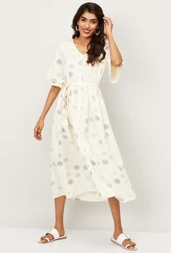 COLOUR ME Women Printed A-line Dress