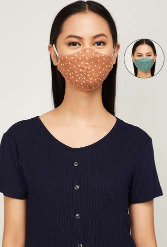 GINGER Women Printed Face Mask - Pack of 2