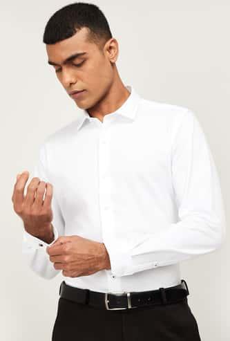 LOUIS PHILIPPE Men Solid Super Slim Fit Formal Shirt