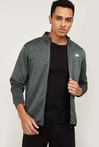 KAPPA Men Solid Full Sleeves Sweatshirt