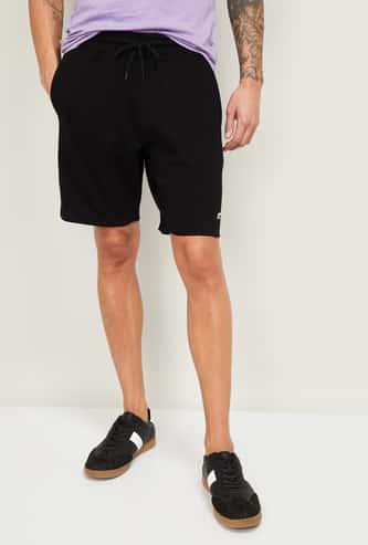 FAME FOREVER Men Solid Drawstring Waist Shorts