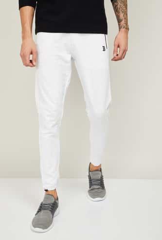 UCLA Men Solid Slim Fit Elasticated Track Pants