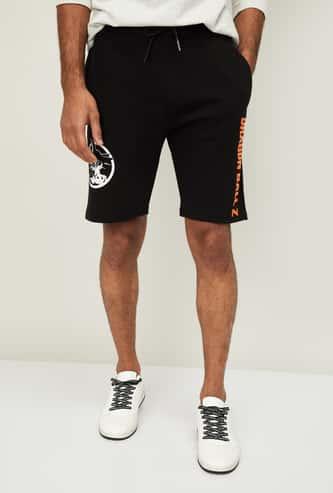 FREE AUTHORITY Men Printed Elasticated Shorts