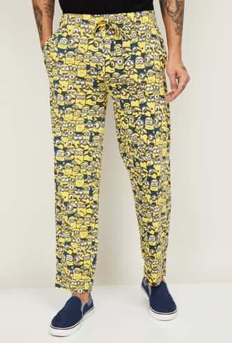 FREE AUTHORITY Men Minion Print Elasticated Track Pants
