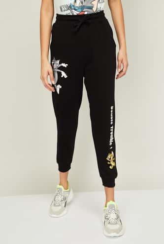 GINGER Women Printed Track Pants