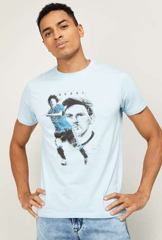 STATUS QUO Men Printed Regular Fit Crew Neck T-shirt