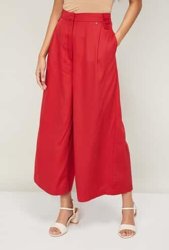 VAN HEUSEN Women Solid Palazzo Trousers