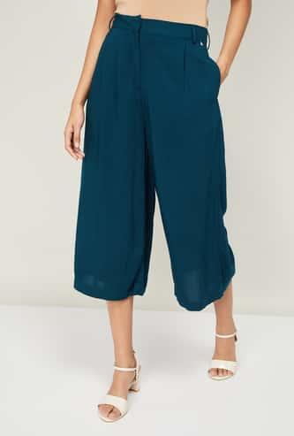 VAN HEUSEN Women Solid Culottes with Belt Loops