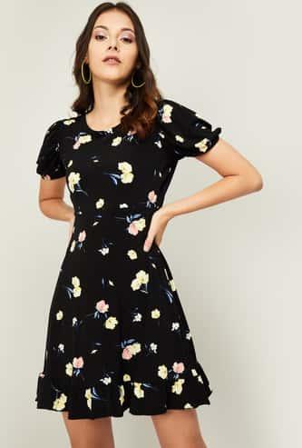 GINGER Women Floral Print A-line Dress