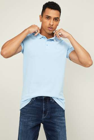 UNITED COLORS OF BENETTON Men Solid Regular Fit Polo T-shirt