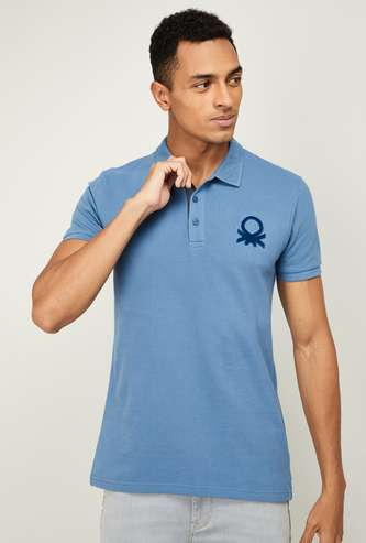 UNITED COLORS OF BENETTON Men Solid Slim Fit Polo T-shirt