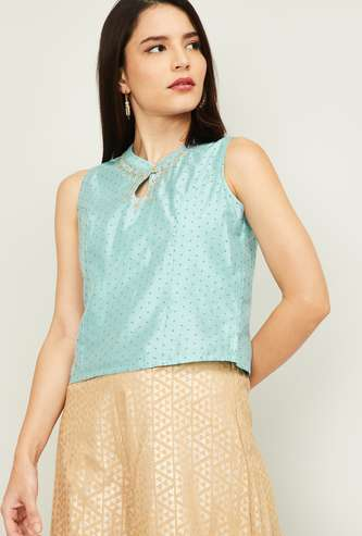MELANGE Women Printed Sleeveless Top