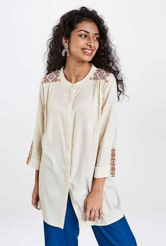 GLOBAL DESI Women Embroidered Tunic