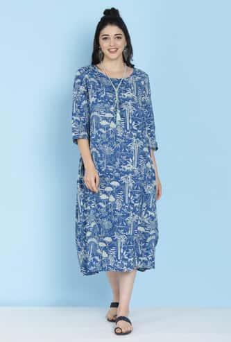 BIBA Women Printed Midi Dress