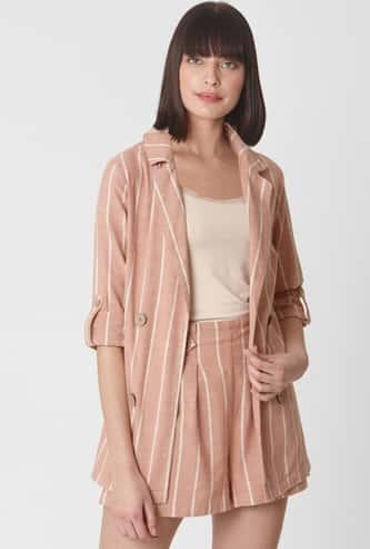 VERO MODA Women Striped Full Sleeves Jacket