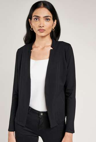 AND Women Solid Casual Jacket