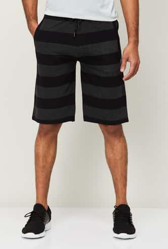 PROLINE Men Striped Elasticated Shorts