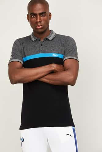 PROLINE Men Colourblocked Regular Fit Polo T-shirt
