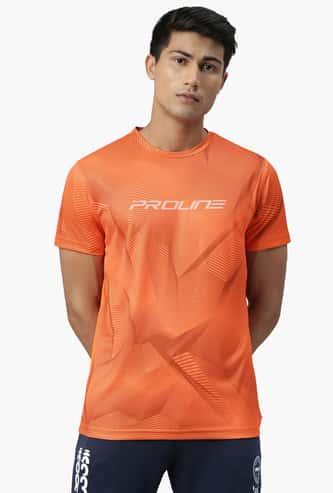PROLINE Men Printed Regular Fit Crew Neck T-shirt