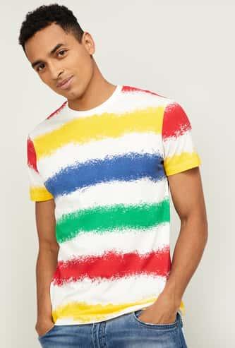 UNITED COLOURS OF BENETTON Men Striped Regular Fit T-shirt