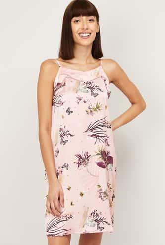 GINGER Women Printed Night Dress