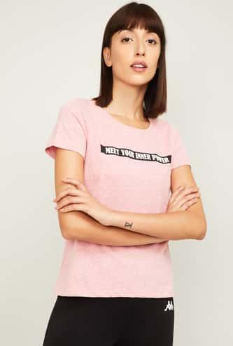 KAPPA Women Printed Sports T-shirt