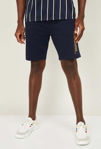 BOSSINI Men Typographic Print Regular Fit Knit Shorts
