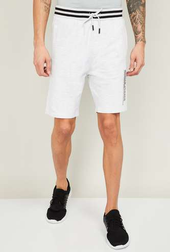 BOSSINI Men Printed Knitted Elasticated Shorts