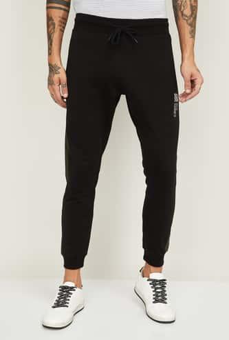 BOSSINI Men Printed Slim Fit Elasticated Joggers