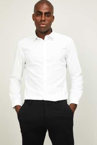 CODE Men Printed Slim Fit Casual Shirt