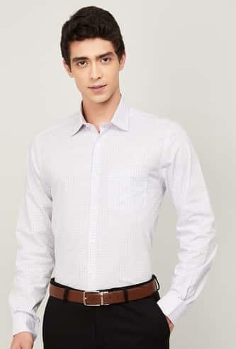 CODE Men Checked Regular Fit Formal Shirt