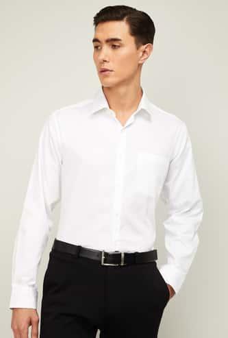 ARROW Men Solid Full Sleeves Formal Shirt
