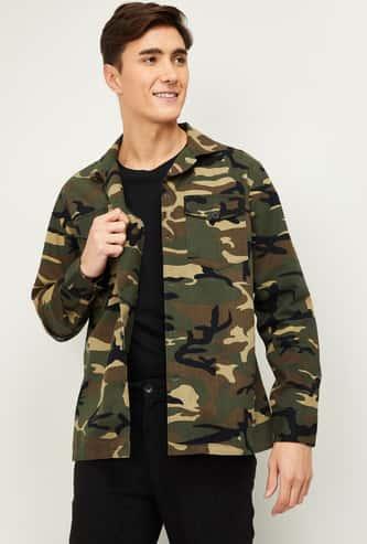 BOSSINI Men Camouflage Printed Regular Fit Casual Shirt