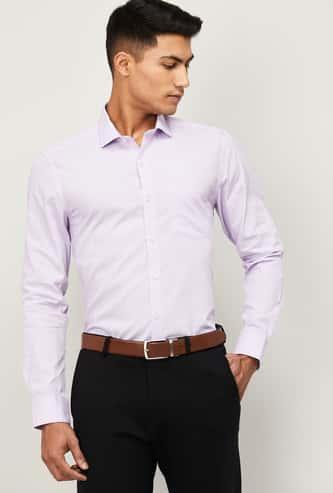 CODE Men Striped Slim Fit Formal Shirt