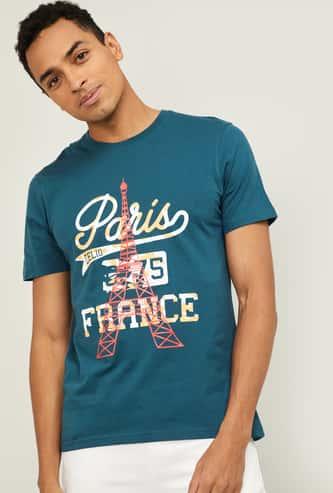 CELIO Men Printed Crew Neck T-shirt