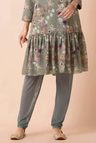 INDYA Women Solid Straight Pants