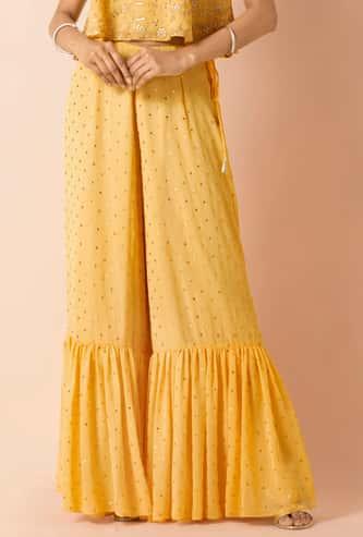 INDYA Women Embellished Sharara Pants