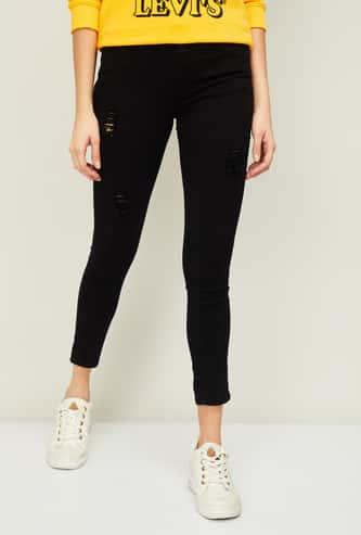 KRAUS Women Solid Skinny Fit Jeans