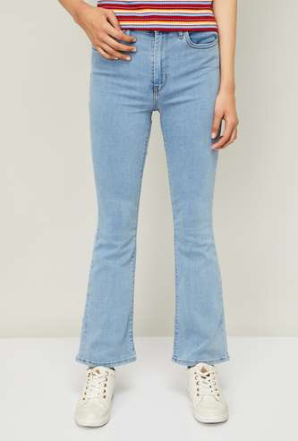LEVI'S Women Stonewashed Bootcut Fit Jeans