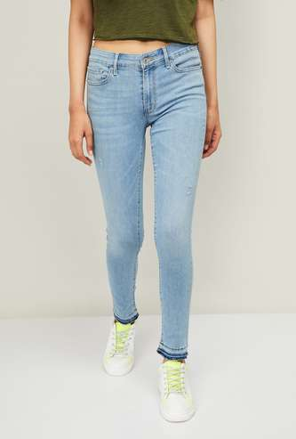 LEVI'S Women Stonewashed Skinny Fit Jeans