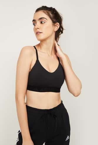 ADIDAS Women Solid Workout Sports Bra