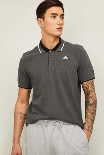 ADIDAS Men Solid Regular Fit Polo T-shirt