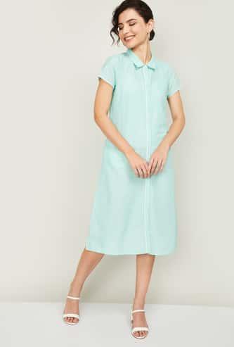 AURELIA Women Polka Dot Print Shirt Dress