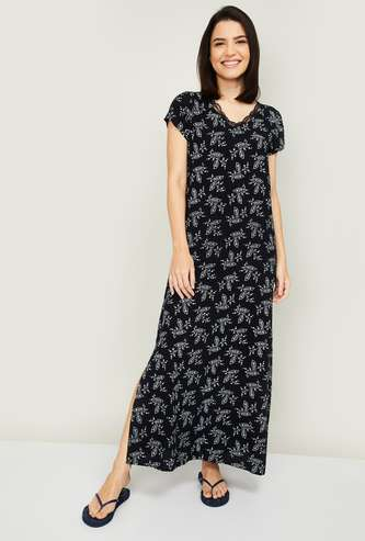GINGER Women Printed Night Gown