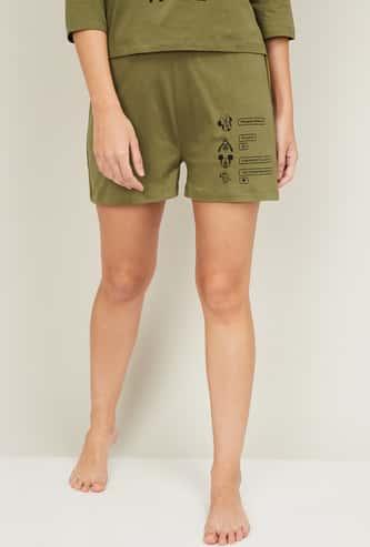GINGER Women Printed Lounge Shorts