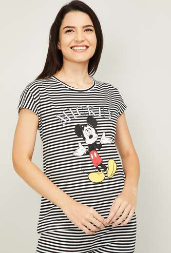 GINGER Women Mickey Mouse Printed Lounge T-shirt