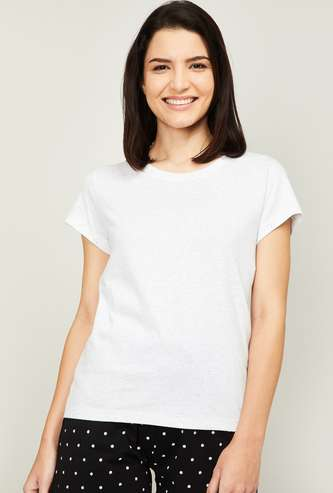 GINGER Women Solid Lounge T-Shirt