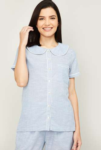 GINGER Women Striped Lounge Top