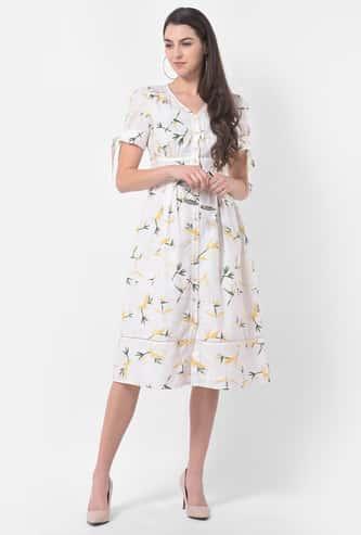 LATIN QUARTERS Women Floral Printed Knee-length Dress