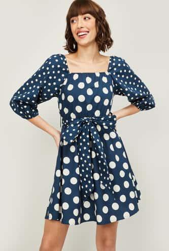GINGER Women Polka Dot Print A-line Dress
